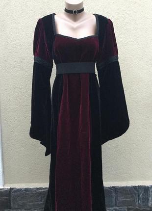 Эксклюзив,бархат,велюр платье в стиле средневековье,готическое...