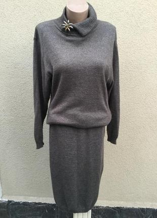 Винтаж,трикотаж,шёлк-шерсть,костюм,юбка+кофта(свитер,гольф)zuc...