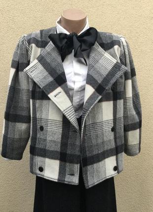 Винтаж,кашемир,шерсть,пальто,жакет,пиджак,клетка,caroline char...