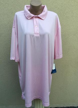 Новая,розовая,спортивная футболка-поло,большущего размера,унисекс