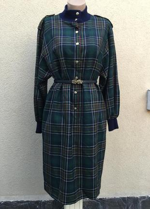 Винтаж,красивое,шерсть платье в шотландскую-английскую клетку,...