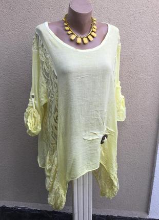 Ассиметрия,блуза,туника,кружево,хлопок-вискоза,этно,бохо стиль...
