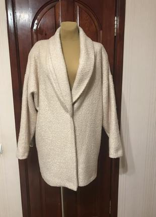 Пудровое пальто-кокон