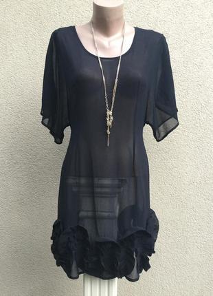 Чёрное,прозрачное платье-реглан,туника,блуза-вечерняя,по низу ...