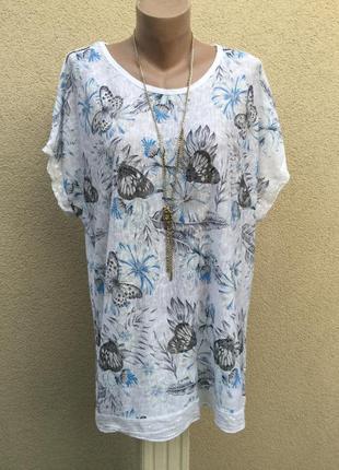Трикотаж футболка,блуза,кофточка,цветочный принт,пайетки,хлопо...