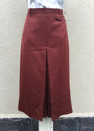 Винтаж,красивая ,шерстяная юбка,встречная складка,офисная,боль...