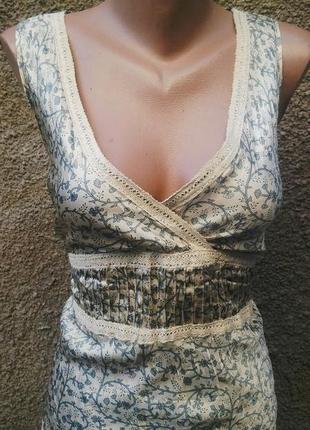 Шелковая блузка(майка) с кружевом