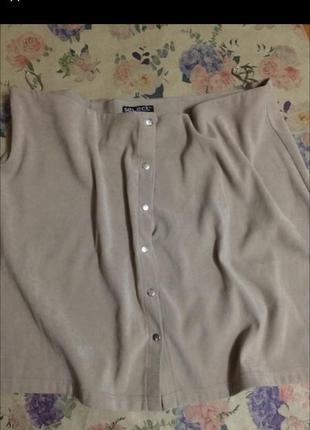 Стильная юбка-трапеция на кнопках