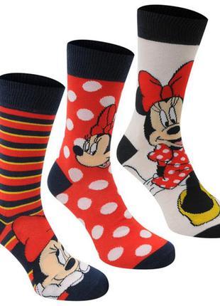Женские носки Disney 3 пары Pack Crew