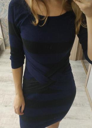 Красивое демисезонное платье миди длины