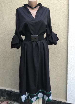 Чёрное,легкое платье в складки,большой размер