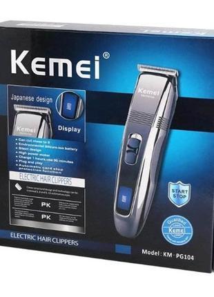 Беспроводная машинка для стрижки волос KEMEI PG-104