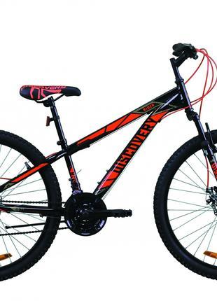 Велосипед 26″ Discovery RIDER DD 2020 (черно-красный)