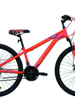 Велосипед 26″ Discovery RIDER DD 2020 (красно-оранжевый с синим)