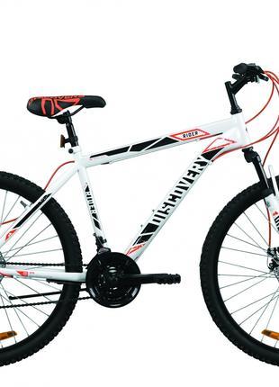 Велосипед 26″ Discovery RIDER DD 2020 (бело-красный с серым)
