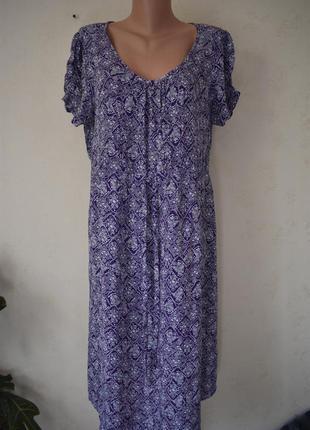 Натуральное легкое платье с принтом большого размера debenhams