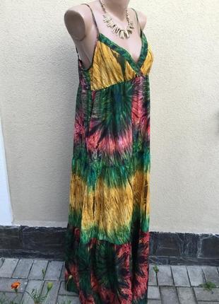 Платье на брителях,сарафан в пол,этно,бохо,деревенский стиль,б...