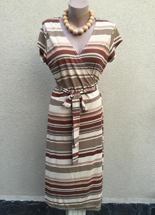 Платье,халат на запах,большой размер,полиэстер