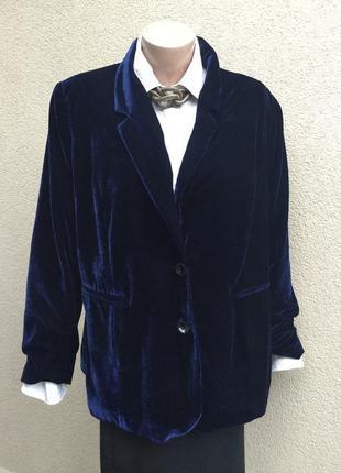 Бархатный,велюровый,вечер6ий жакет,пиджак,блейзер с переливом,...