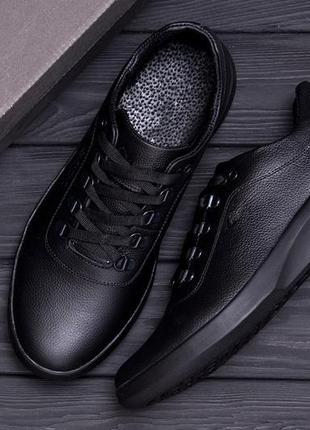 Мужские кожаные кроссовки е-series old school