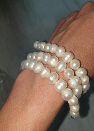 Бусы из натурального жемчуга ожерелье колье