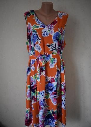 Красивое натуральное платье большого размера tu