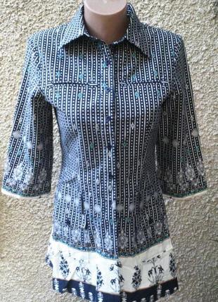 Блузка(рубашка)англия,туника из плотного хлопка