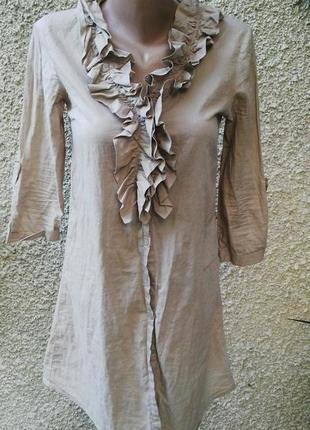Блузка(рубашка,платье) туника с жабо от zara