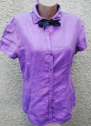 Льняная рубашка,блуза, marco polo оригинал