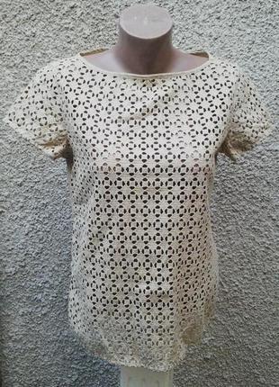 Кружевная блуза,кофточка, италия хлопок