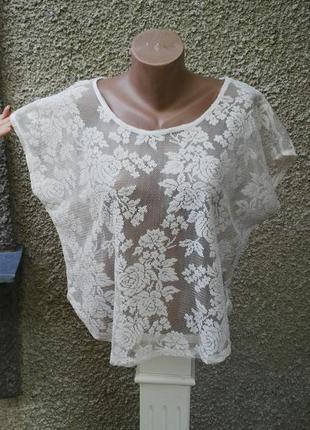 Очень красивая кружевная блузка большого размера