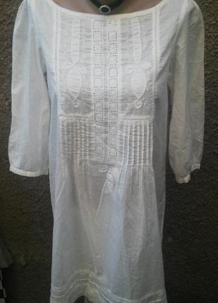Очень красивое с вышевкой платье(блузка,туника)рубаха в этно(д...