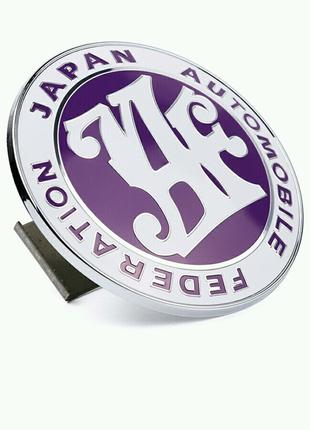 Значок эмблема JAF ФИОЛЕТОВЫЙ Japan automobile federation