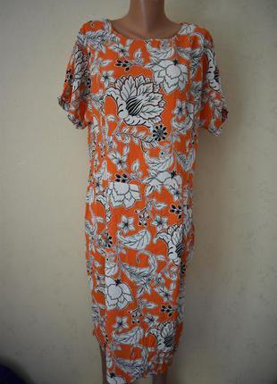 Натуральное платье с принтом большого размера f&f