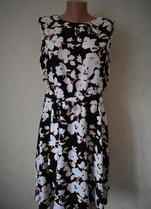 Красивое натуральное платье с принтом большого размера wallis