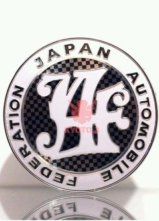 Значок эмблема JAF карбон