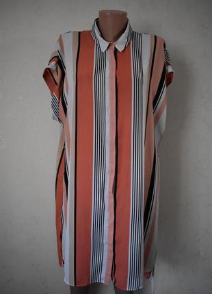 Легкое платье в полоску большого размера f&f
