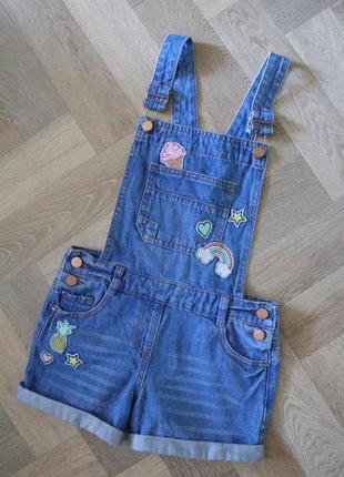 Стильный джинсовий ромпер ,по бирке на 9-10лет.