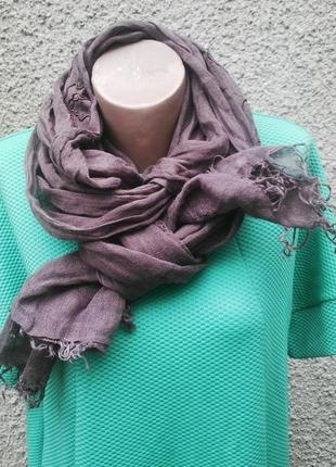 Красивый льняной шарф от laura ashley расшитый бисером