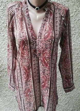 Блузка,рубашка удлиненная,туника в бохо стиле.