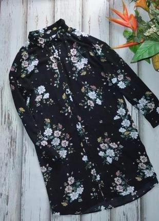 Платье рубашка оверсайз h&m p m-l