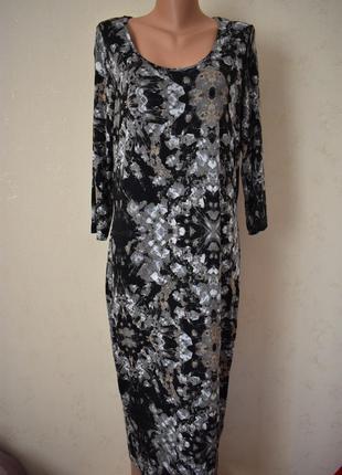 Трикотажное платье с принтом большого размера f&f