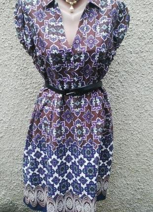 Платье(туника) большого размера, хлопок