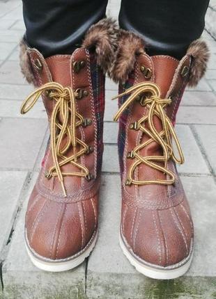 Новые ботинки,сапожки(мех) на шнуровке cube,очень легкие и удо...