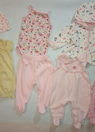 Пакет одежды ползунки боди кофта для новорожденных