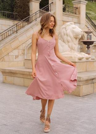 Платье на кнопках