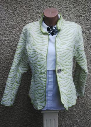 Двухсторонний фактурный  жакет(пиджак)большого размера, хлопок