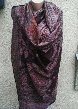 """Большущий  красивый шарф,палантин,накидка в принт """"огурцы"""",шер..."""