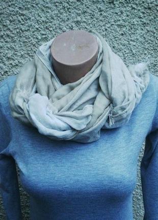 Тонкий,легкий,двойной шарф,комбинированный ,бежевый в мелкую к...