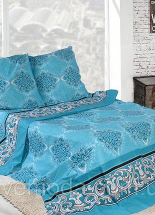 Комплект  постельного  белья «Снежинка бирюзовая»